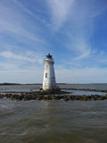 Cockspur Island Lighthouse - view from our boat during Captain Mike's Dolphin Excursion - Tybee Island