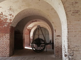 Wheeled transport for a canon - at Fort Pulaski on Cockspur Island, Georgia