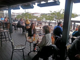 Judy and Aaren - dinner at Tubby's Seafood on River Street overlooking the Savannah River - Savannah