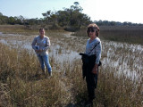 Judy and our private guide in a sea water marsh - Tybee Island