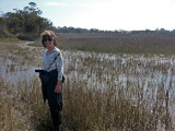 Judy in a sea water marsh - part of our private, guided tour of the marsh - Tybee Island
