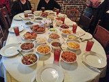 Our table at Mrs. Wilkes' Dining Room before we sat down to eat  - Savannah