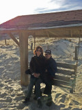 Judy and Richard - our favorite swing on the beach - East Coast of Tybee Island