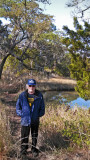 Richard on a trail to a sea water marsh - part of our private, guided tour of the marsh - Tybee Island