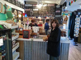 Judy in the Tybean Art and Coffee Bar (terrific coffee) - Tybee Island