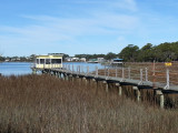 Area next to A-J's Dockside Restaurant - the Savannah River (its Back River) - Tybee Island