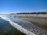 The beach as seen from the fishing pier - East Coast of Tybee Island