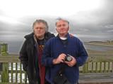 Elliott and Richard on the fishing pier - East Coast of Tybee Island
