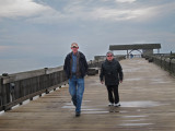John and David on the fishing pier - East Coast of Tybee Island