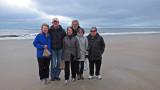 Left to right: Nancy, David, Judy, Richard, Sharon and John - beach on the East Coast of Tybee Island