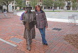 Judy with her friend Johnny Mercer at the City Market - Savannah