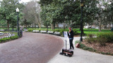 Young violin player in Forsyth Park - Savannah