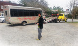 The bus for Johnnie Brown's fine Freedom Trail Tour - bus broke down while we were on it with Jack & Judy - Savannah