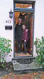 Jack and Judy at the entrance to their house in Savannah - they rented the house for a week - we stayed there overnight.