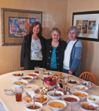 Left to right: Judy, Mary Louise and Renee - after lunch at Mrs. Wilkes' Dining Room - Savannah