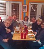 Dinner at Coco's Sunset Grille on Tybee Island. Left to right: Richard, Elliott, David, Judy, John, Nancy and Sharon