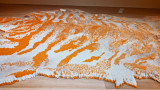 A tiger-skin rug made from cigarettes  at the Telfair Museum of Art - Savannah