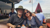 Judy and Richard at Put-in-Bay Village on South Bass Island - Lake Erie