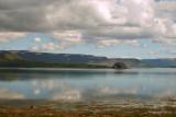 Berufjörður Ebba í skýjum baðaður