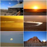 Mungo - sunset and full moon