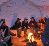 Severino tent at camp