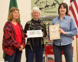Backbone Award, Dick and LaVonne Bailey - Scatter Creek Riders Chapter (accepting by Joan Fleming and Laura Keepers)