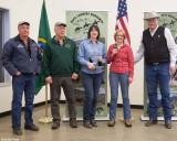 Cathy also recognized Tony Karniss and Bernie Stratton for their assistance on the Haney Meadow road construction