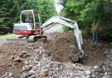 56 Road Culvert cleaning ~ Mile NE of Muddy Fork