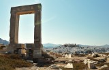 Portara and the castle of Naxos.