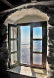 Window to the Aegean sea.