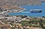 Katapola, the main port of Amorgos.