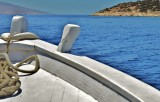 Ride on the boat in the Aegean sea.