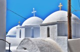 Domes in a row in Amorgos.