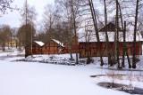 Del av gamla bruket vid Kolbäcksån.