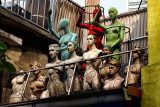 Mannequins  on the roof
