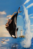 Orca  and Jumping Dolphins