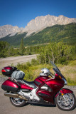 Returning from Canmore. Yamnuska in the Background
