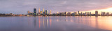Perth and the Swan River at Sunrise, 25th August 2011