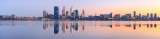 Perth and the Swan River at Sunrise, 27th August 2011