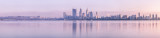 Perth and the Swan River Misty Sunrise, 31st August 2011