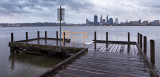 Perth and the Swan River at Sunrise, 3rd February 2012