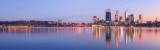 Perth and the Swan River at Sunrise, 18th May 2012
