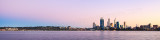 Perth and the Swan River at Sunrise, 15th May 2013