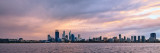 Perth and the Swan River at Sunrise, 20th May 2013
