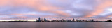 Perth and the Swan River at Sunrise, 15th June 2013