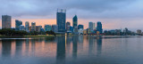 Perth and the Swan River at Sunrise, 16th July 2013
