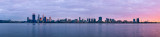 Perth and the Swan River at Sunrise, 2nd August 2013