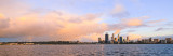 Perth and The Swan River at Sunrise, 16th August 2013