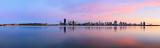 Perth and the Swan River at Sunrise, 26th November 2013