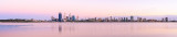 Perth and the Swan River at Sunrise, 6th February 2014